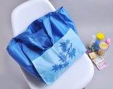 210dナイロン青く大きい食料雑貨の戦闘状況表示板のカスタム袋のために使用できる2つの余分前部ポケットが付いている昇進のショッピング・バッグ