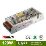 120W 5V 12A Schaltungs-Stromversorgung mit Kurzschluss-Schutz