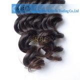 インドの人間の毛髪の深い波の人間の毛髪