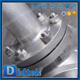 Robinet d'arrêt sphérique en hausse d'acier inoxydable de cheminée de qualité européenne de Didtek