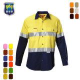 100%年の綿メンズ火の保護こんにちは気力の安全作業ワイシャツ