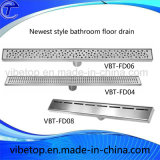 China estilo nuevo de acero inoxidable purgador piso del baño del hotel