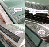 Coffret d'étalage de réfrigérateur d'acier inoxydable pour le gâteau/pâtisserie (S830A-S2)