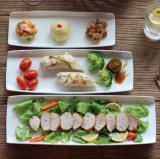 Plaque de dîner en céramique d'hôtel de vaisselle de restaurant de plaque de dîner de vente en gros de plaque de dîner de porcelaine