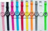 Reloj barato del regalo del silicón de la promoción para las señoras