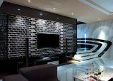 Negro de 4 x 12 pulgadas/10x30cm cristal biselado brillante de la pared cerámica mosaico Metro baño cocina Decoración