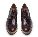 Ручная работа мужская черная лакированная кожа обувь полосатый мужчин свадебная обувь