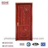 Último projeto única porta de madeira sólida com padrão de flores