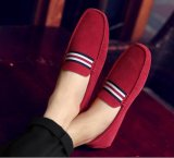 Moccasin Calçado em couro de camurça, Loafers calçados para homens