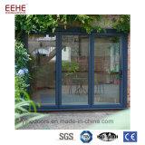 Дверь складчатости гарантии качества алюминиевая стеклянная