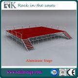Fase di alluminio portatile di Rk con la piattaforma rossa per l'abitudine