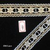 il nastro sveglio del merletto del fiore ricamato oro di 4cm per la tessile dei vestiti parte Hme883