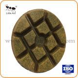 3つの /80mmの金属の結束の樹脂のダイヤモンドの床の磨くパッドの研摩の粉砕のツールの車輪