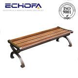 低価格屋外の防水カーボンファイバーの公共の長い椅子の鋳造アルミの足の木の庭のベンチ