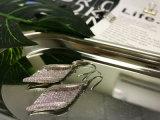 매력적인 보석 백금에 의하여 도금되는 지르콘 귀걸이 다이아몬드 여자 귀걸이
