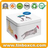 Роскошная коробка олова Fudge для конфеты может Metal упаковывать подарка