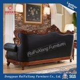 La couleur noire Leaather Sofa (N235E)