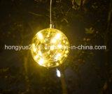 LED 유리제 공 빛 안쪽에 최신 판매 LED 유리제 공 소형 별 LED Stringchain