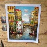 Het met de hand gemaakte Klassieke Olieverfschilderij van Venetië voor de Decoratie van het Huis