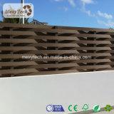Diseño de múltiples paisajes residenciales eco WPC tejidos cerca de madera para jardín