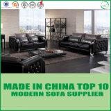 El sofá moderno del cuero genuino de los muebles de oficinas fijó para la sala de estar