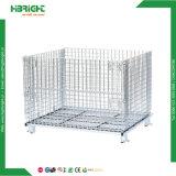 Hochleistungsfalz-nach Maß Maschendraht-Ladeplatten-Speicher-Rahmen, der Korb-Behälter-Kasten stapelt