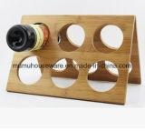 Складная конструкция для монтажа в стойку - 6 бутылки вина из бамбука