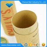 Taza personalizada el embalaje de cartón de papel Kraft de tubo de regalo