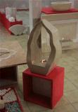 Lareira ecológica Trani Bronzetto calcária bege