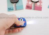 Cubierta caliente del clave del PVC LED Keychain de la venta del OEM