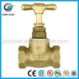 Válvula de parada de cobre amarillo del control Dn15 con la ISO