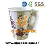 Hot Sale Custom jetables à paroi simple tasse de thé avec poignée
