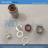 Штепсельная вилка n разъема RF прямая мыжская для кабеля LMR400 (проводник N-J7D без заварки)