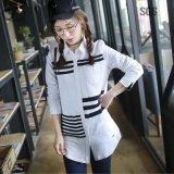 Camisas del estilo del amante----Frente usar Knit respirable de la raya