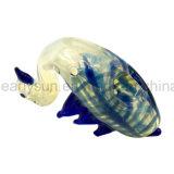 Glas schreiben Schwan-Gans-Handrohr mit w-Flügeln und blauen Streifen (ES-HP-149)