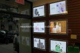 Установленная стеной акриловая коробка СИД светлая для рекламировать магазина