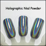 Pigmento holográfico da arte azul mágica do prego da cor do arco-íris do lago