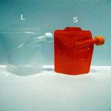 ソースのためのジッパーが付いているプラスチック永続的な液体の口の袋