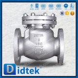 Válvula do retorno do aço inoxidável das extremidades da flange de Didtek BS1868 não