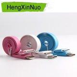 Câble de remplissage de caractéristiques plates colorées de la nouille USB pour le câble de chargeur de l'iPhone 4