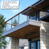 높은 Quality Unti-Rust Stainless Steel Balustrade 또는 Exterior Terrace를 위한 Rod Balustarde