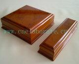 Rectángulos de joyería de madera de madera hechos a mano de madera del rectángulo de joyería del rectángulo de regalo
