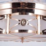 Rame antico dell'oro che ricopre il ventilatore di soffitto decorativo invisibile d'illuminazione