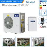 L'Allemagne Cold -25c Zone de chauffage du radiateur d'hiver Chambre +55c msme 12kw/19kw/35kw/70kw Evi Source d'air monobloc Pompe à chaleur à eau chaude