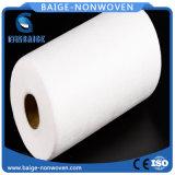 Weißes Polyester Spunbonded nichtgewebtes Gewebe für Baby-Windel