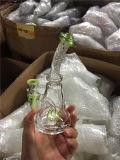 소형 팔 나무 녹색 비커 유리제에게 수관 Recycler 연기가 나는 것은 동소리를 낸다