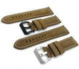 22mm 24mm 26mm Cuir véritable de l'Italie Crazy Horse de montres de luxe en cuir de haute qualité sangle avec boucle en acier inoxydable de mettre en place pour Panerai Watch