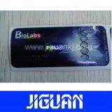 Escritura de la etiqueta colorida del frasco del holograma de oro de la hoja del efecto farmacéutico de encargo del laser