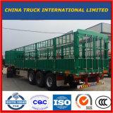 Acier du carbone 3 essieux de 33 tonnes de frontière de sécurité de camion remorque semi