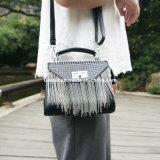 Mini bolso común del monedero de la mano de la PU del mensajero con el encadenamiento para las mujeres
